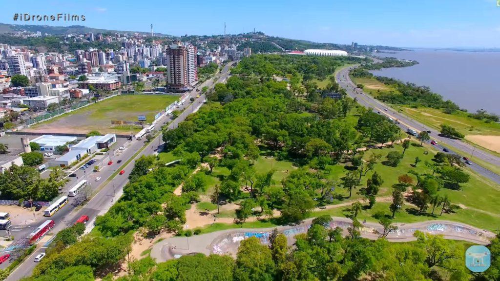 Город Порту Алегри в Бразилии