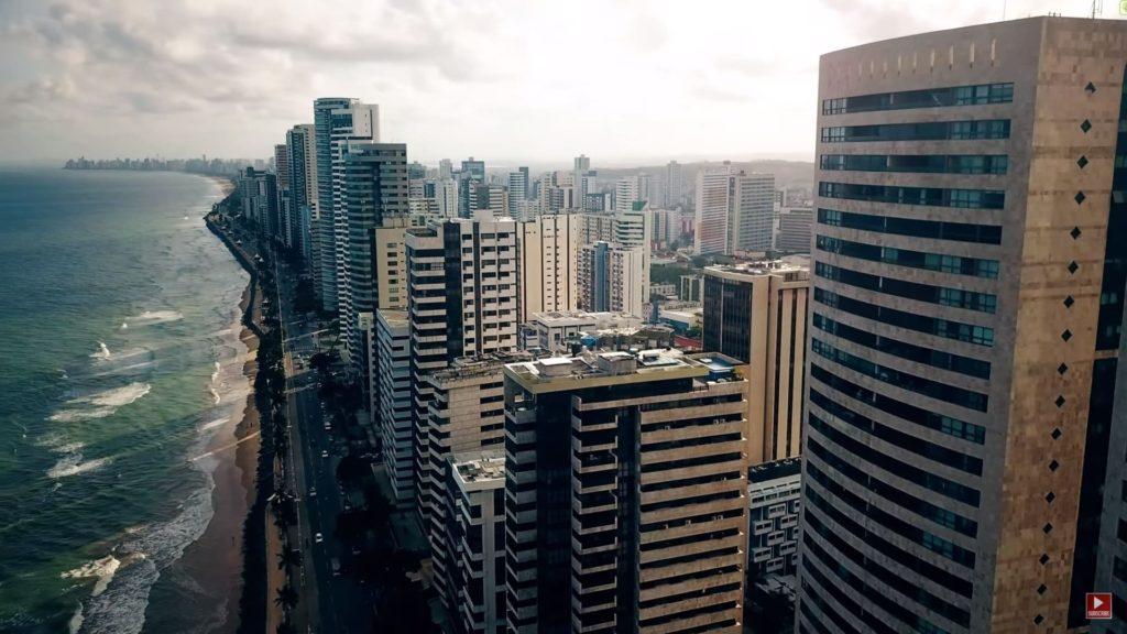 Город Ресифи в Бразилии побережье